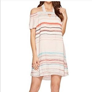 1.state stripe halter dress